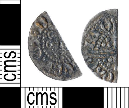 YORYM-EF6B1B: Medieval Coin : Cut halfpenny of Henry III