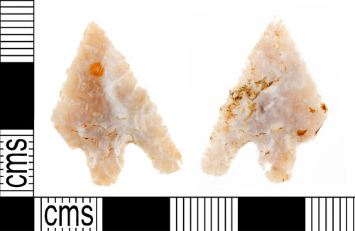YORYM-1F796B: Bronze Age : Barbed and tanged arrowhead