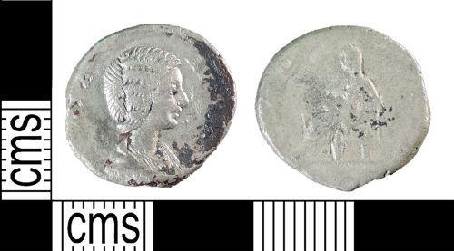 YORYM-000B8B: Roman Coin : Denarius of Julia Domna