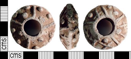 YORYM-70457D: Medieval to post-medieval : Spindle Whorl
