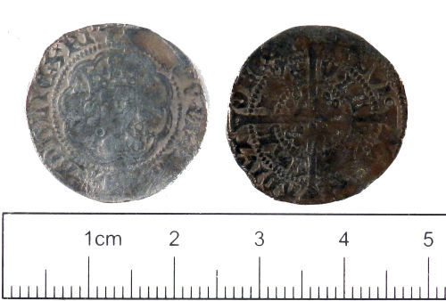YORYM-985C72: Medieval Coin : Halfgroat of Henry VI