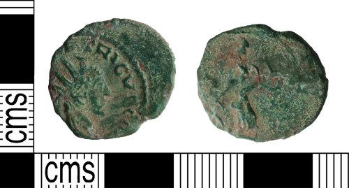 YORYM-B09929: Roman Coin : Barbarous radiate copying Tetricus II