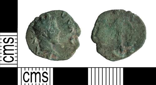 YORYM-B08B01: Roman Coin : Barbarous radiate copying Tetricus II