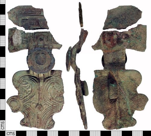 YORYM-F0C9C7: Early-Medieval : Great Square-Headed Brooch