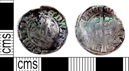 YORYM-A869D2: Medieval Coin : Penny of Edward II