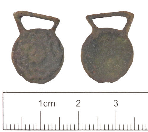 YORYM-A30296: Post-medieval : Hooked Tag