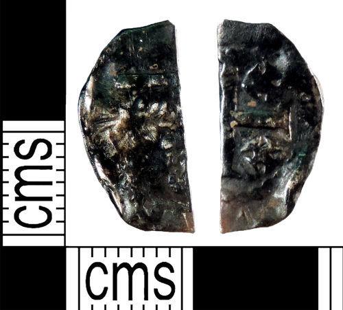 YORYM-F168B1: Medieval Coin : Cut halfpenny of Henry II