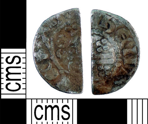YORYM-F1883C: Medieval Coin : Cut halfpenny of Henry III