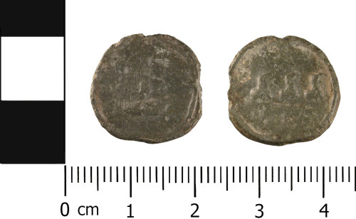 WMID-D7DE65: Post Medieval Lead Token (obverse and reverse)