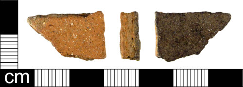 ESS-0B348F: Fragment of Iron Age pottery.