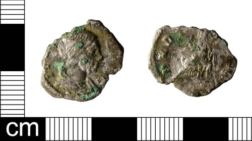 ESS-26CBCA: A silver plated copper alloy contemporary copy of a denarius of Julia Domna, minted during the reign of Septimius Severus (AD193-211).