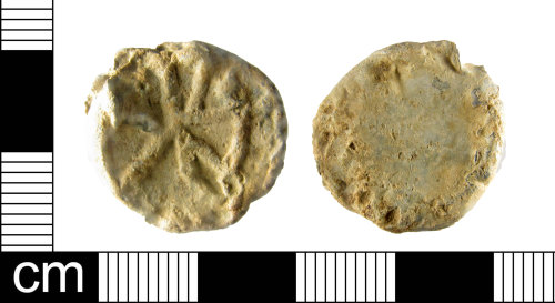 A resized image of Lead token, Medieval-Post Medieval period.e