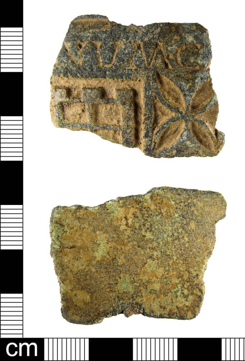 ESS-5945F8: A fragment of a Roman enamelled copper alloy vessel, dating to the 2nd century AD