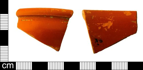 ESS-7DCE12: Fragment of a ceramic Samien ware vessel dating to the Roman period.
