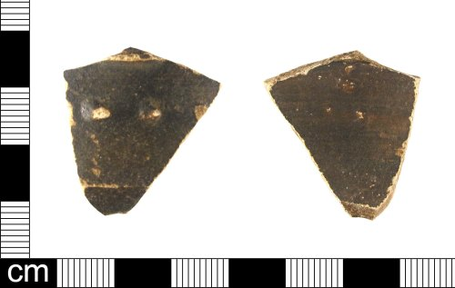 ESS-B7DF75: A fragment of a Roman Nene Valley Colour Coated (NVCC) ware vessel, dating to the late 3rd-4th century.