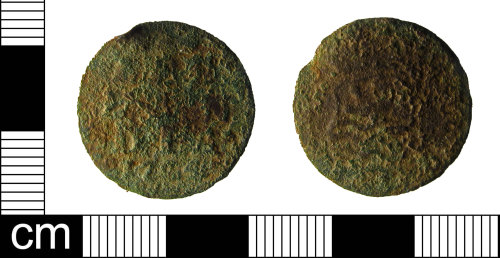 ESS-ED40E8: A copper alloy Post Medieval duit of Zeeland, issued by the Dutch East India Company, dating AD1794.