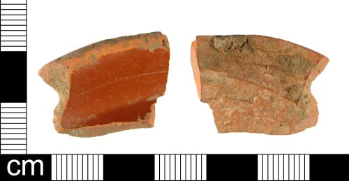 A resized image of Base fragment of a Roman samian ware vessel, dating AD 100-150.