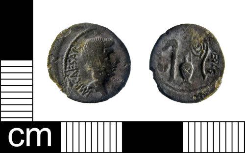 ESS-FE2658: Silver denarius of Octavian (27BC-AD14), dating 37BC.