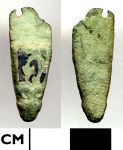 A resized image of 18F214. Early medieval: Zoomorphic strap end