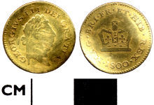 A resized image of 4C9C61. Modern coin: third guinea of George III