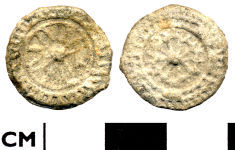A resized image of Post Medieval to Modern lead token