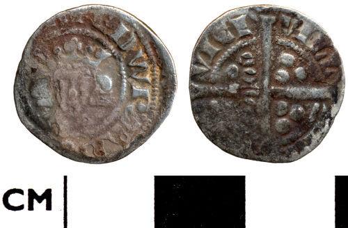 DOR-25E252: Medieval coin: Penny of Edward I (Berwick penny)