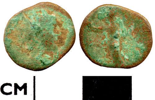 DOR-46FCE3: Roman coin: radiate of uncertain emperor