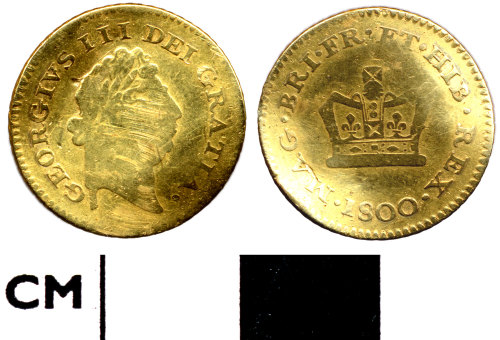 DOR-4C9C61: 4C9C61. Modern coin: third guinea of George III