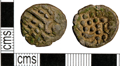DOR-59AB84: Iron Age coin: Silver stater of the British Iron Age. SW uninscribed (Durotrigian)