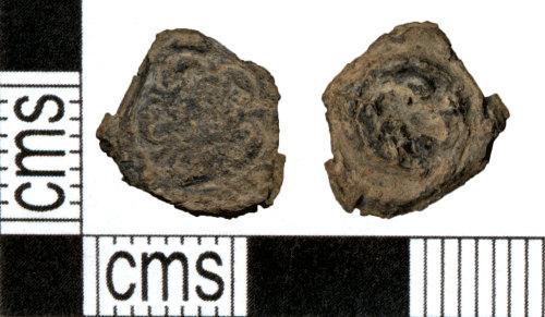 DOR-6AD22D: Post Medieval lead alloy button