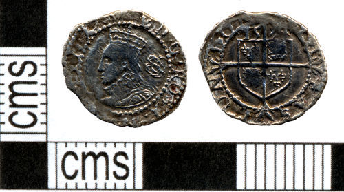 DOR-713161: Post Medieval coin: Three farthings of Elizabeth I