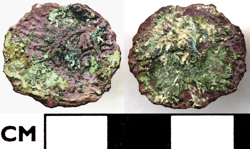 DOR-836665: 836665. Roman coin. Barbarous radiate.