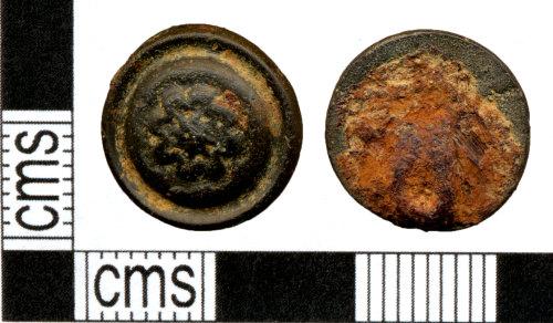 DOR-8DE3D4: Post Medieval button