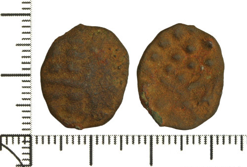 DOR-A88BFB: Iron Age Coin: Copper alloy stater of the British Iron Age, SW uninscribed (Durotrigian) type