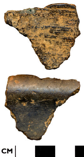 DOR-ADD7C4: ADD7C4. Late medieval to post medieval  copper alloy vessel fragment