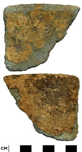 DOR-ADEF88: ADEF88. Late medieval to post medieval  copper alloy vessel fragment