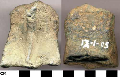 DOR-BFC323: BFC323. Medieval to Post-Medieval vessel foot