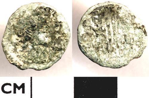 DOR-D197C2: D197C2. Roman coin: Nummus of the House of Constantine