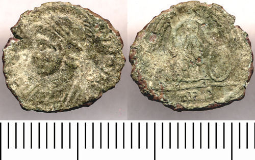 SOMDOR-EA85B4: EA85B4. Nummus of the House of Constantine