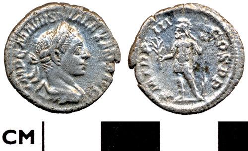 DOR-F53420: F53420. Roman coin: Denarius of Severus Alexander