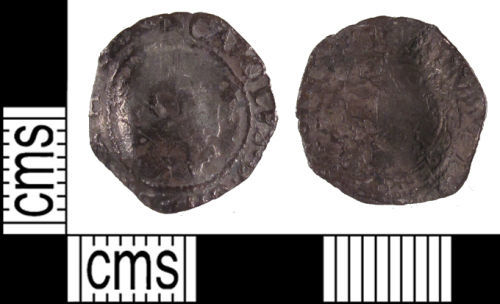 SUSS-1546C4: A Post Medieval silver half groat of Charles I.