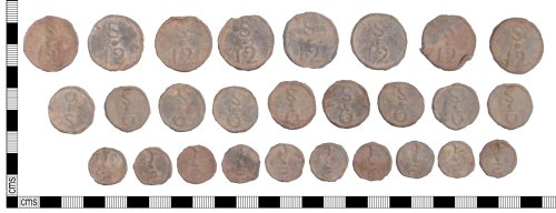 SUSS-9A523E: Medieval or Post Medieval lead tokens