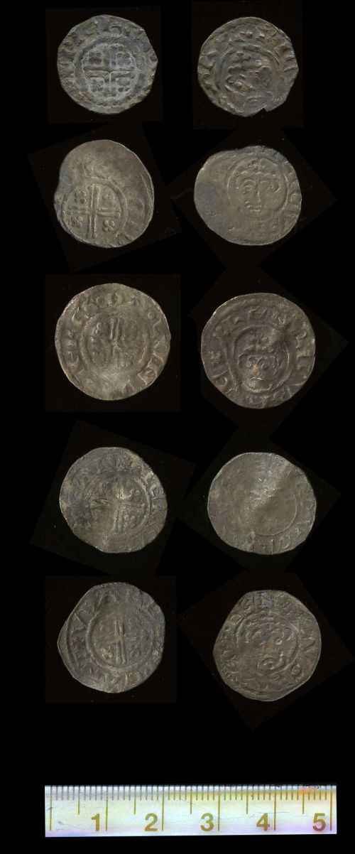 A resized image of Treasure case 2008 T695 from North Carnforth Area Cumbria coins 1-5