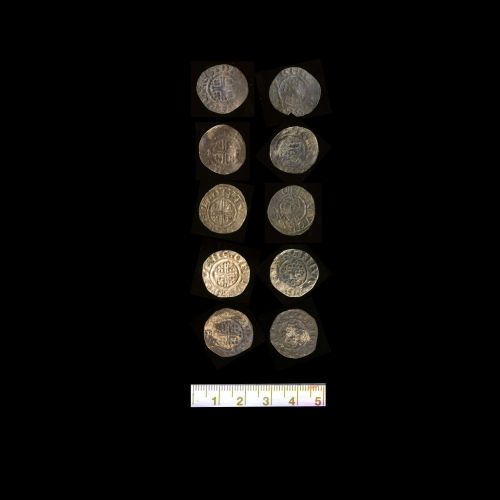 A resized image of Treasure case 2008 T695 from North Carnforth Area Cumbria coins 11-15