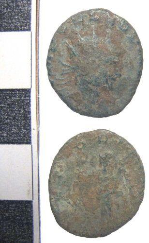 BERK-D42340: Roman Coin Radiate or Nummus D42340
