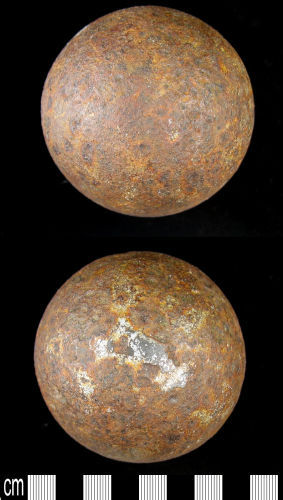 BERK-160D95: Post Medieval Cannon Ball