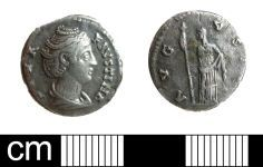 A resized image of Roman Coin: Denarius of Faustina I