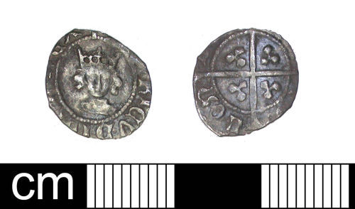 DENO-9A0D35: Medieval Coin: Halfpenny of Henry VI (restored)