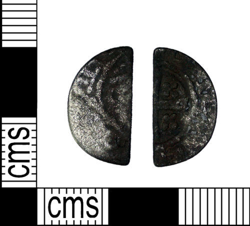 DENO-C4E9CE: Medieval Coin: Short Cross Cut Halfpenny of Uncertain Ruler