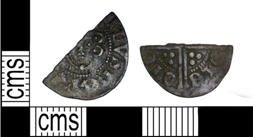 DENO-C55D1F: Medieval Coin: Cut Voided Long Cross Halfpenny of Henry III